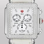 Deco XL Day Diamond, Diamond Dial White Alligator