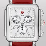 Deco XL Day Non-Diamond, Diamond Dial Scarlet Patent