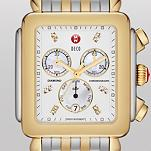 Deco XL Day Non-Diamond, Diamond Dial Two Tone