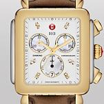 Deco XL Day Non-Diamond Two-Tone, Diamond Dial Espresso Patent