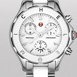 Tahitian White Ceramic and Stainless Steel Non-Diamond