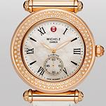 Caber Diamond Rose Gold White Alligator