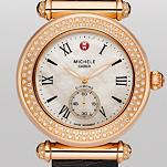 Caber Diamond Rose Gold Espresso Alligator