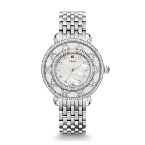 Michele Cloette Diamond, White Mop Diamond Dial Watch Mww20e000024 Mother-Of-Pearl
