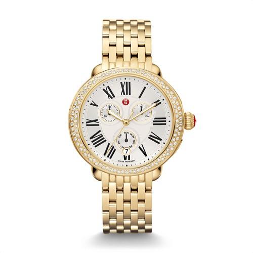 Michele Serein Diamond Gold Watch Mww21a000011 White