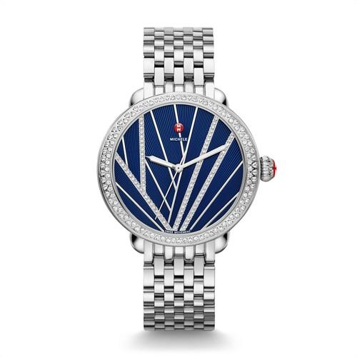 Michele Serein Diamond, Blue Diamond Dial Mww21a000057 Blue