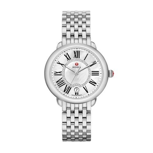 Michele Serein Mid, Diamond Dial Watch Mww21b000009 White