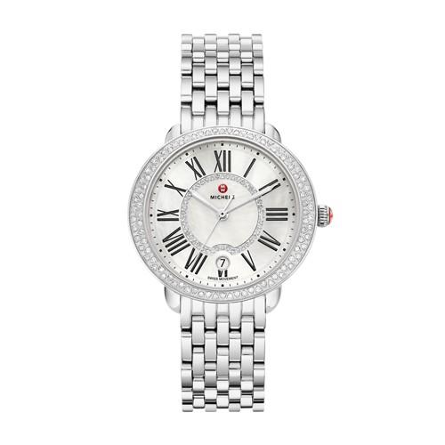 Michele Serein Mid Diamond, Diamond Dial Watch Mww21b000030 Mother-Of-Pearl