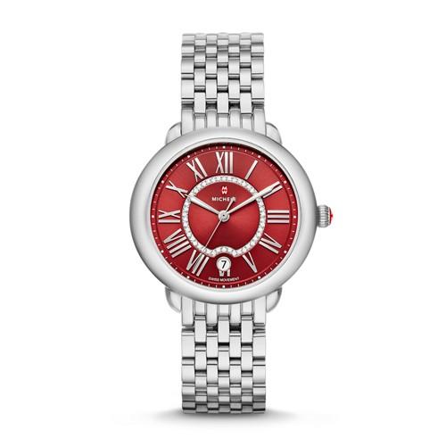 Michele Serein Mid, Red Diamond Dial Watch Mww21b000106 Red