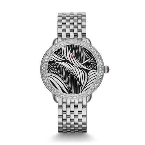Michele Serein Mid Diamond, Wave Diamond Dial Mww21b000111 Black