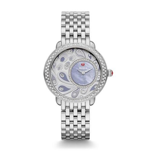 Michele Serein 16 Diamond, Peacock Diamond Dial Mww21f000005 Mother-Of-Pearl