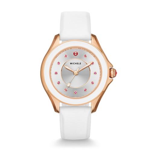 Michele Cape Topaz Rose Gold Tone White Watch Mww27a000004 Silver