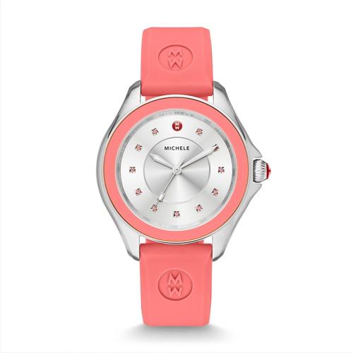Michele Cape Topaz Pink Watch Mww27a000015 Silver
