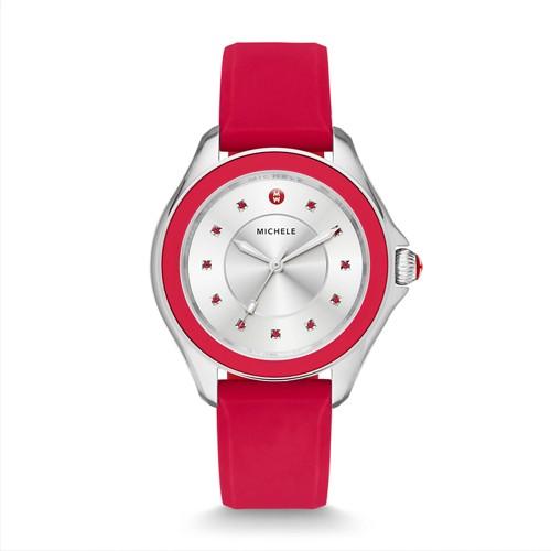 Michele Cape Topaz Red Watch Mww27a000017 Silver