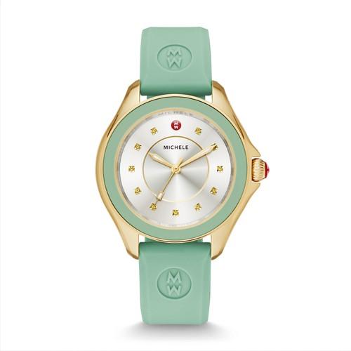Michele Cape Topaz Mint Watch Mww27a000018 Silver