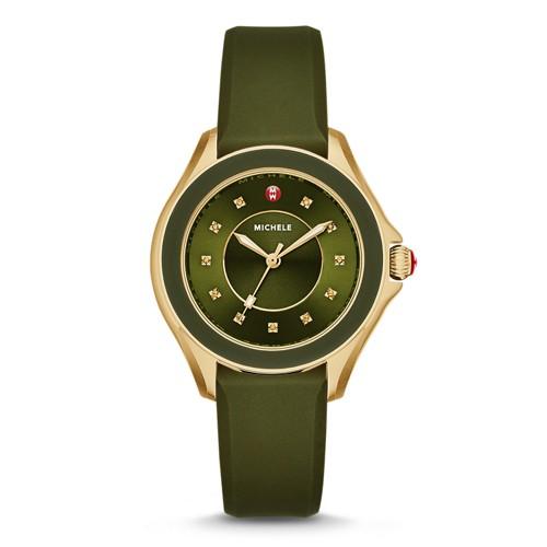 Michele Cape Topaz Green, Gold Tone Watch Mww27a000019 Black