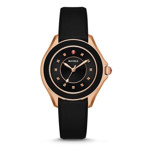 Michele Cape Topaz Black, Rose Gold Tone Watch Mww27a000020 Black