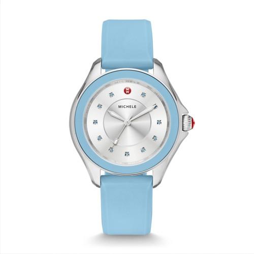 Michele Cape Topaz Sky Blue Watch Mww27a000021 Silver