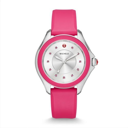 Michele Cape Topaz Hot Pink Watch Mww27a000022 Silver