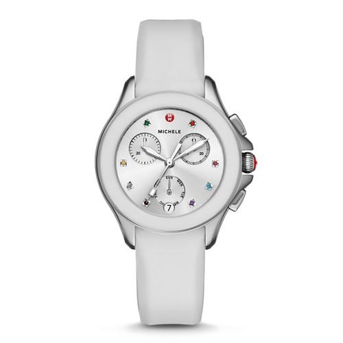 Michele Cape Chrono White Watch Mww27c000001 Silver