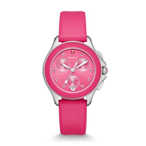 Michele Cape Chrono Hot Pink Watch Mww27c000010 Pink