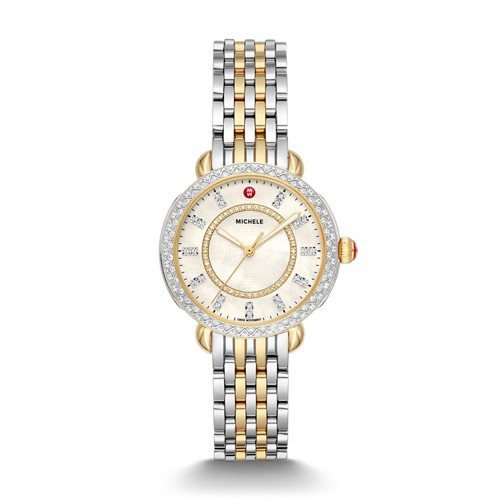 MICHELE Sidney Classic Two-Tone Diamond Watch  Jewelry- MWW30B000002