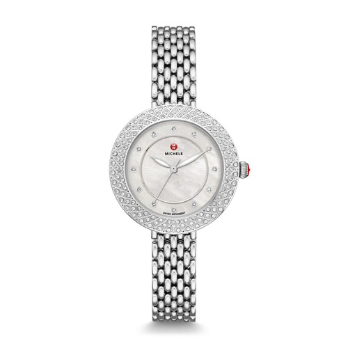 Michele Camile Stainless Diamond Watch Mww31a000001 Silver