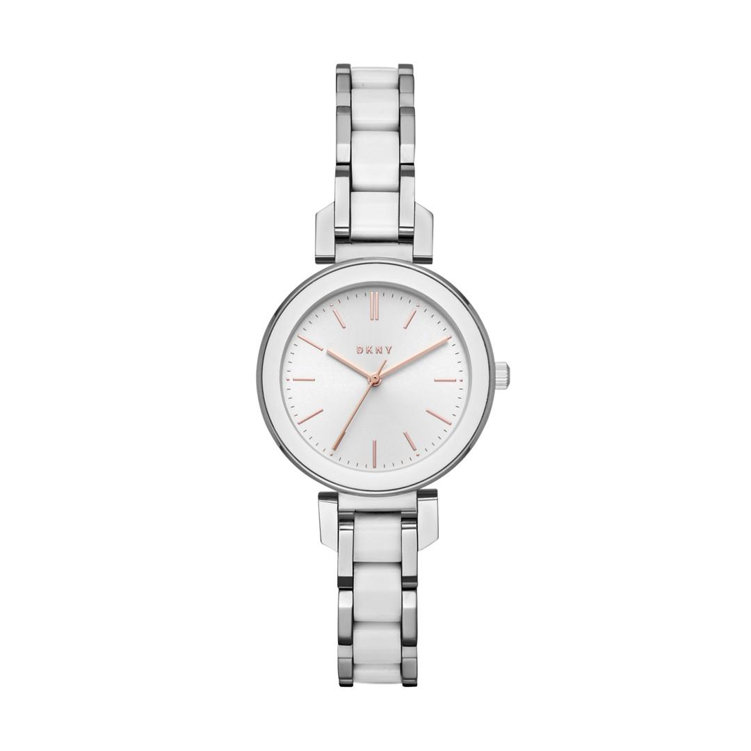 Dkny Dkny Women&Apos;S Ellington Stainless-Steel And White Ceramic Watch Ny2588 Jewelry - NY2588-WSI