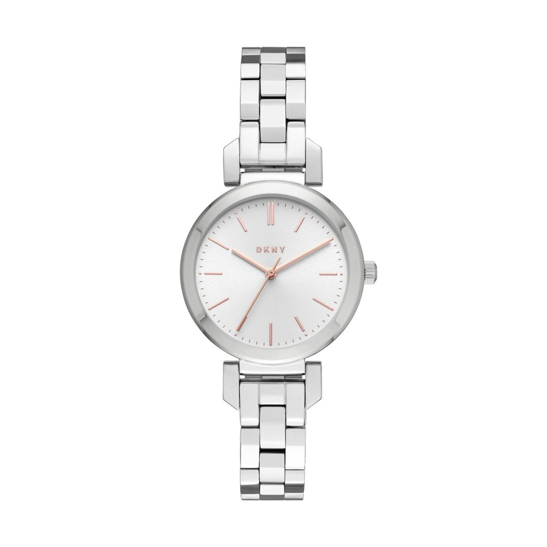 Dkny Ellington Stainless-Steel Three-Hand Watch Ny2591 Jewelry - NY2591-WSI