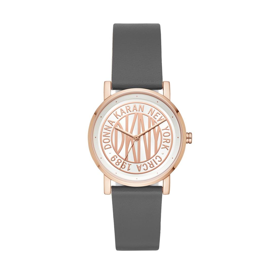 Dkny Dkny Women&Apos;S Soho Three-Hand Gray Leather Watch Ny2764 Jewelry - N..