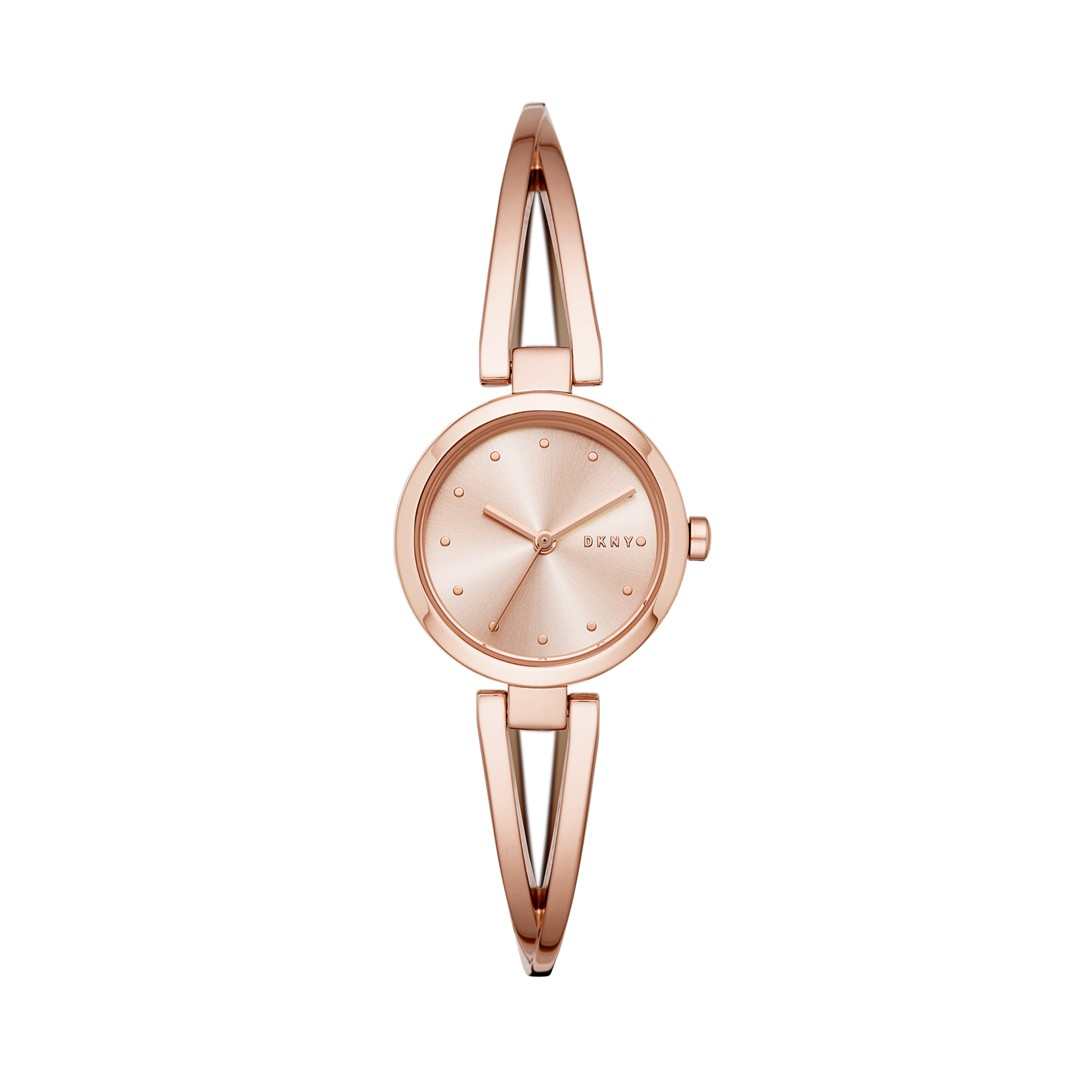 Dkny Dkny Women&Apos;S Crosswalk Three-Hand Rose Gold-Tone Stainless Steel Watch Ny2812 Jewelry - NY2812-WSI