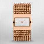 Rose Gold Tone Crystal Bracelet Watch