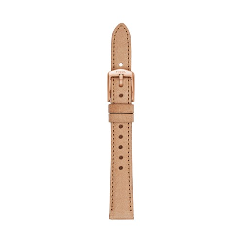 Fossil 14Mm Bone Leather Watch Strap