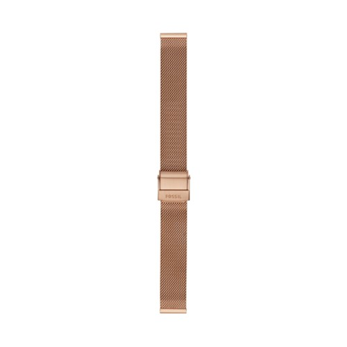 Fossil 14Mm Rose-Gold Tone Steel Mesh Bracelet