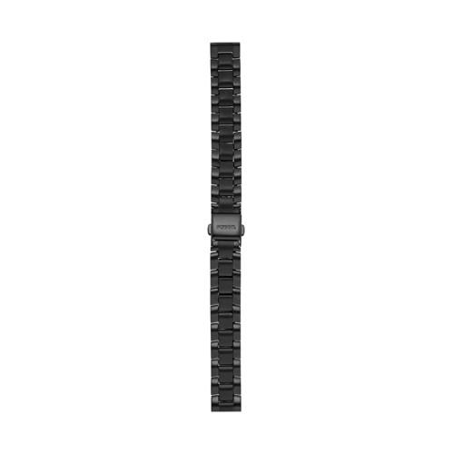 Jacqueline 14mm Three-Row Black Stainless Steel Watch Bracelet S141198