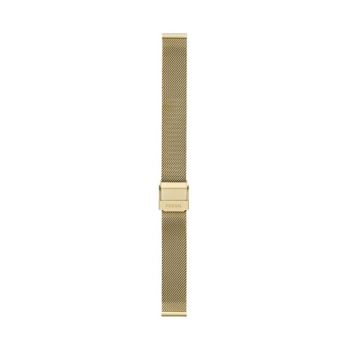 14mm Gold-Tone Stainless Steel Mesh Bracelet S141207