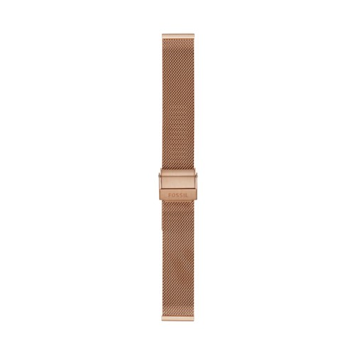 Fossil 16mm Rose Gold-Tone Steel Mesh Bracelet S161057