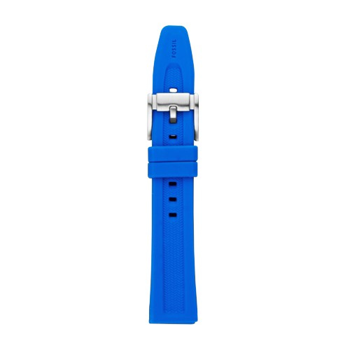 Fossil 18Mm Cobalt Blue Silicone Watch Strap S181102