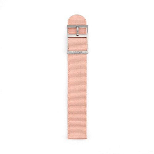 fossil Polyester 18mm Watch Strap - Pink S181188
