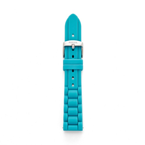 fossil 18mm Tidal Blue Silicone Watch Strap S181207