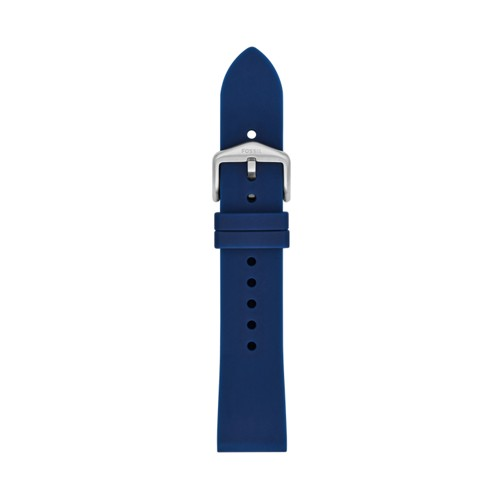 Fossil 20mm Navy Silicone Strap S201098