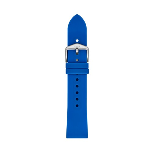 Fossil 20mm Blue Silicone Strap S201100