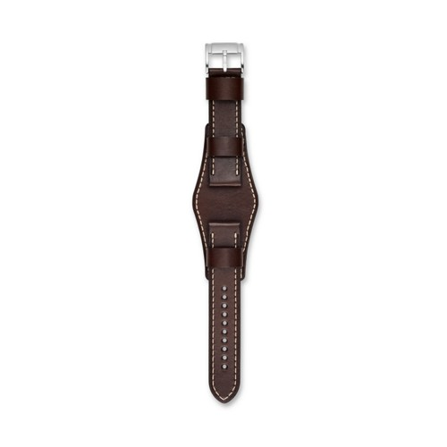 Fossil 22Mm Dark Brown Leather Watch Strap