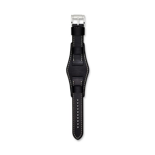 22mm Black Leather Watch Strap S221241