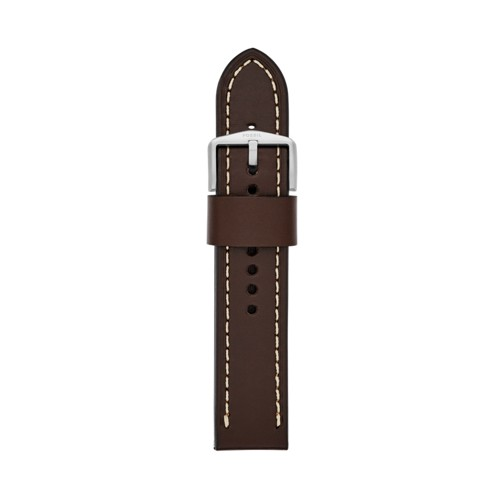 Fossil 22mm Dark Brown Leather Watch Strap S221242