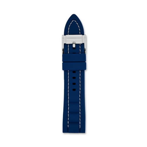 Fossil Silicone 22Mm Watch Strap Blue