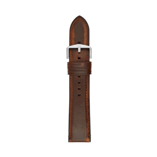 Estate 22mm Dark Brown Leather and Silicone Watch Strap S221299