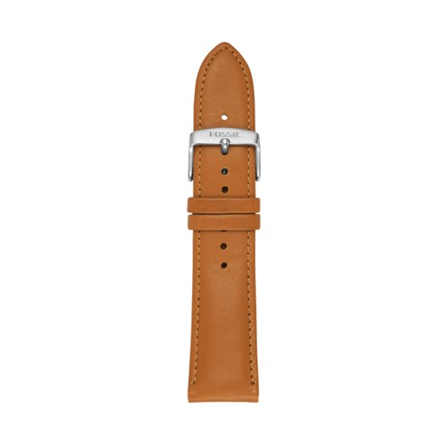 22mm Light Brown Leather Watch Strap S221344