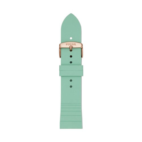 Fossil 22mm Green Silicone Watch Strap S221351