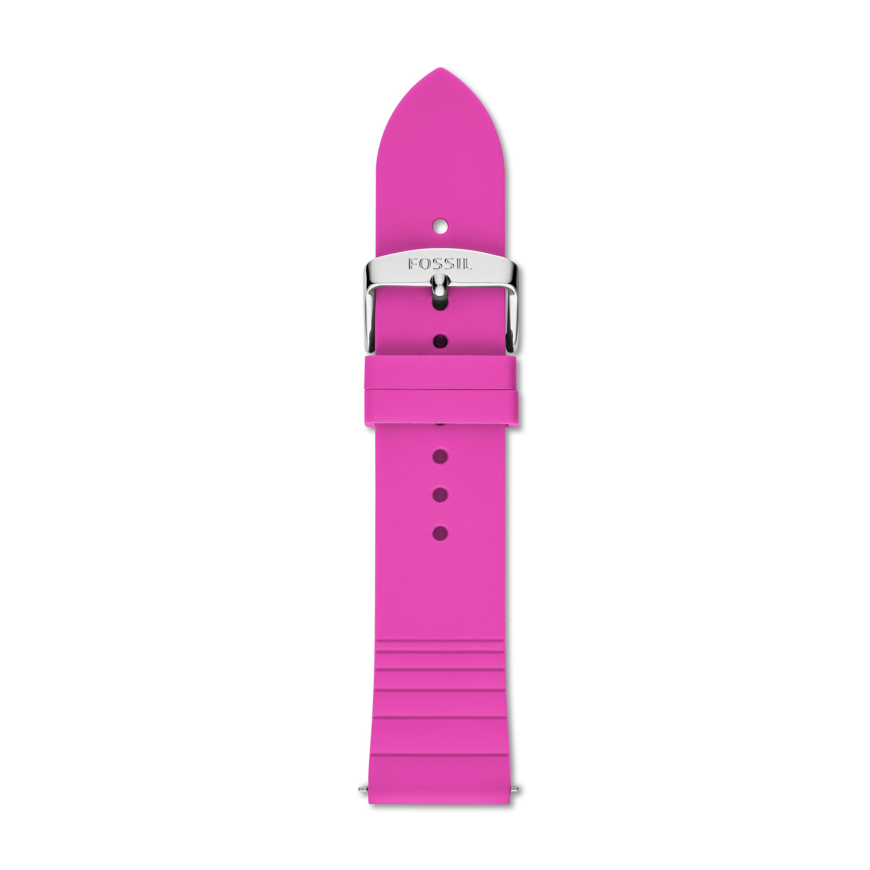 Fossil 22Mm Pink And Red Silicone Strap S221361